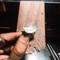 Pendientes Oval Rubí